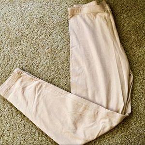 3589ac6034b9c American Apparel Pants | Beige Tan Nude Cream Crop Capri Leggings ...